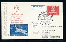 61641) LH SF FISA Düsseldorf - Nürnberg 10.11.63, So-Karte
