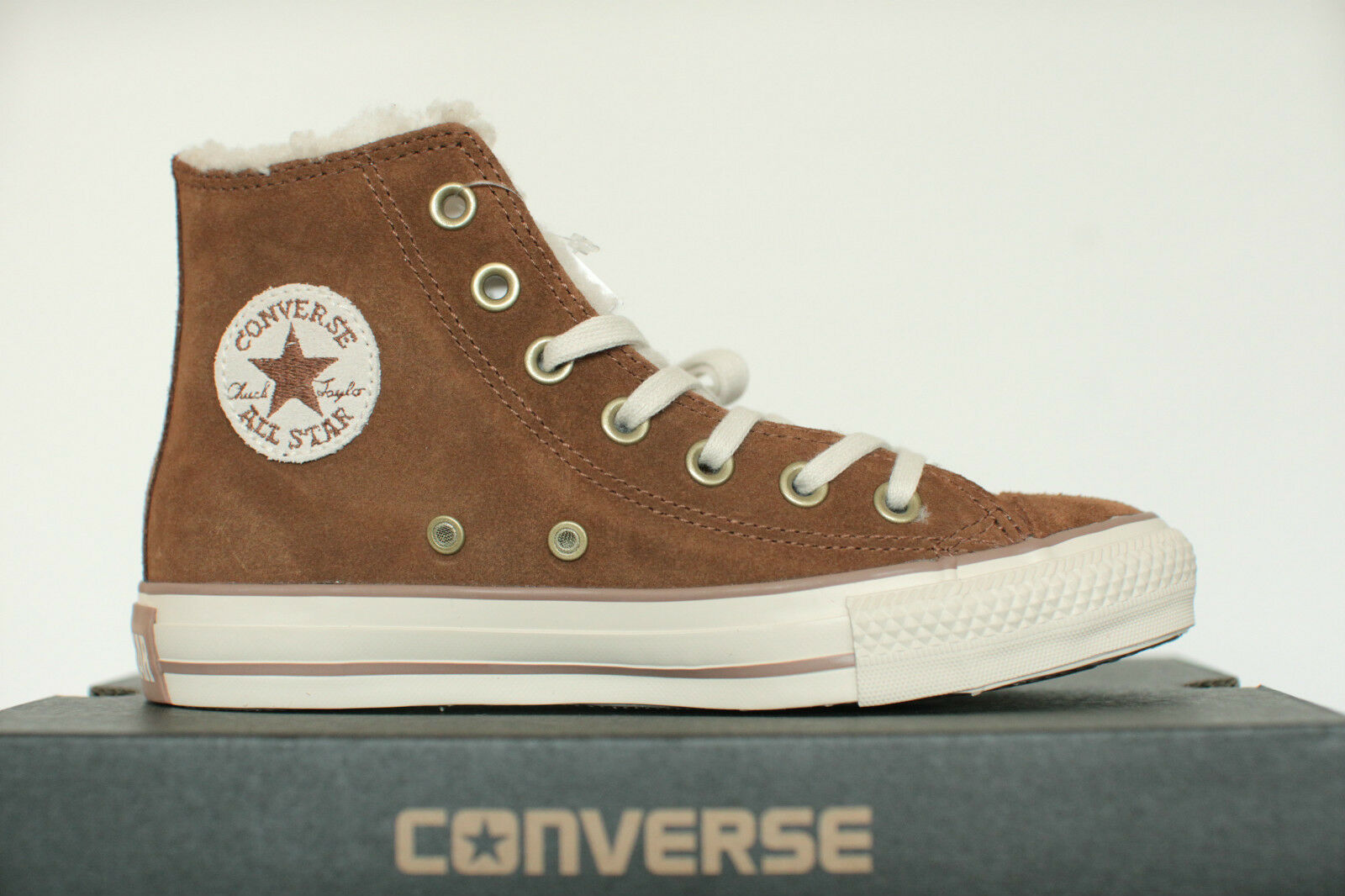 New all Star Converse Chucks Hi Leather Shearling Monks Robe 133085c High Top