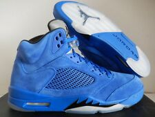 11cf6fdd416 Nike Air Jordan 5 Retro Blue Suede Game Royal Black Size 12.5 DS 136027 401