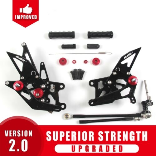 Footrests Rearsets Foot Pegs Pedals For Honda CBR600RR 2009-2016 CBR 600RR BK