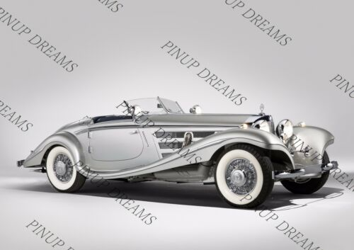 Retro Poster Wall Art of Classic Vintage Mercedes Benz 540K Special Roadster