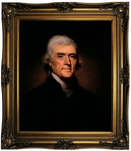 Peale Thomas Jefferson 1800 Framed Canvas Print Repro 20x24