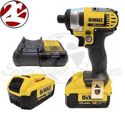 "NEW DeWALT DCF885 20V MAX 1/4"" XR Lithium Ion DCB204 Impact Drill Driver Kit"