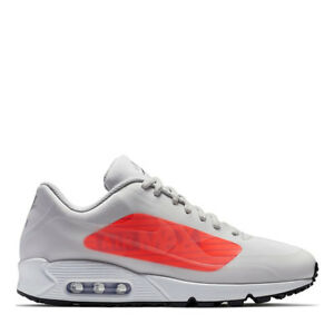 51be9d03de168f Nike Air Max 90 NS GPX   AJ7182 001 Grey Bright Crimson Big Logo Men ...
