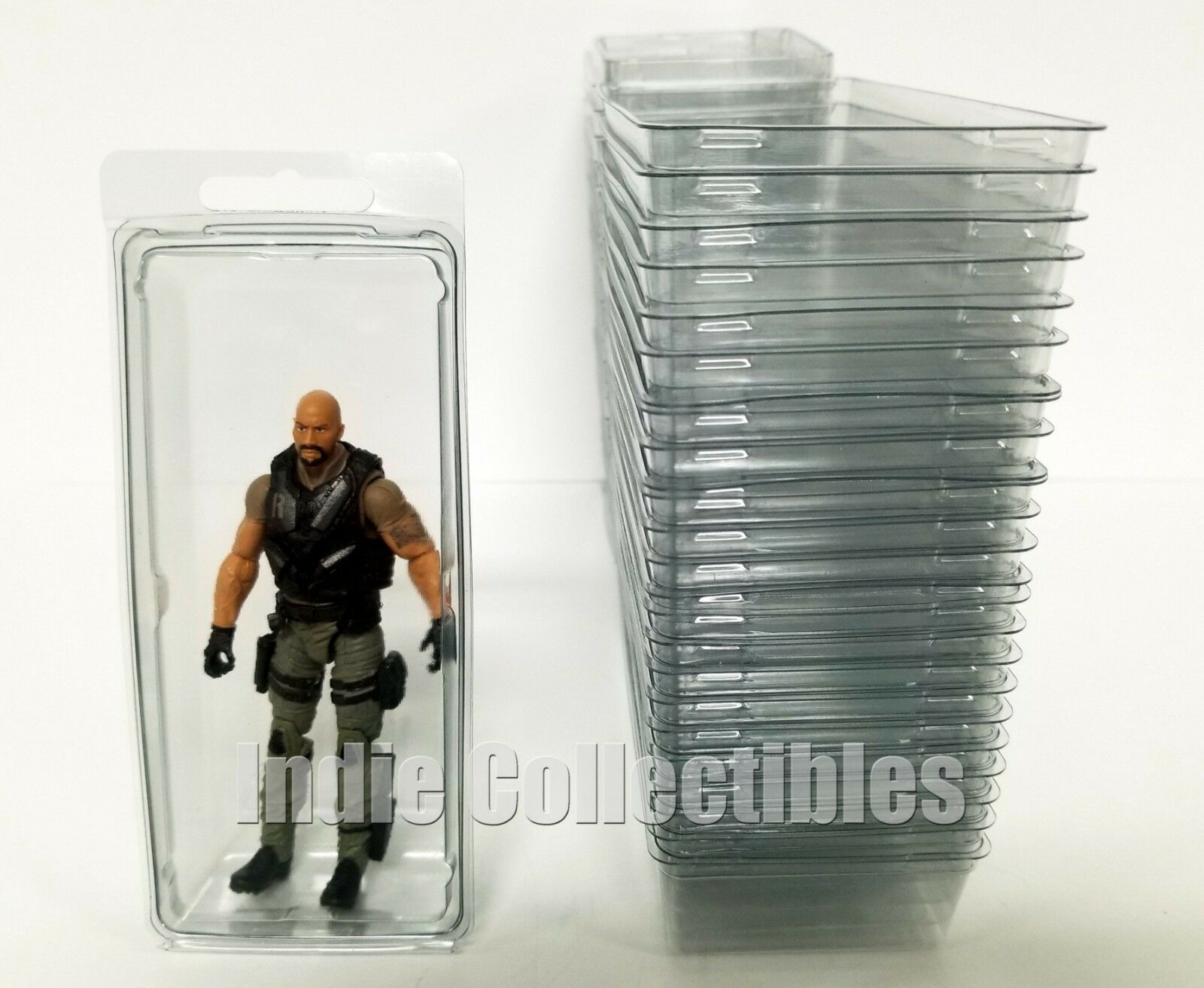GI JOE BLISTER CASE LOT OF 25 Action Figure Display Predective Clamshell LARGE