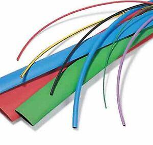 25mm, Clear Heat Shrink Tubing Sleeve 2:1 Shrink Ratio 1.2m Length Various Colours Sizes