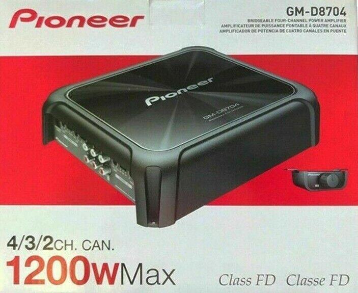 Pioneer GM-D8704-4 canales Amplificador 1200W car audio//estéreo amplificador de potencia de múltiples