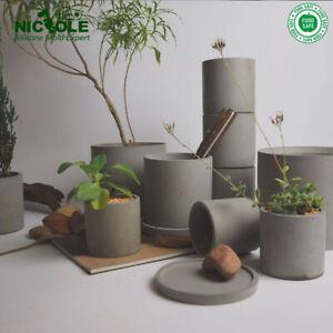 Nicole Concrete Planter Silicone Mold Carton Animal Image Cement Flowerpot Mould