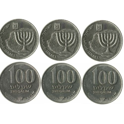 X6 Coins SPECIAL EDITION Hanukkah Israeli 100X3+10X3 Sheqels PRIVATE COLLECTION