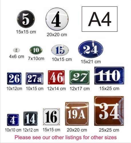 Hausnummer Hausnummernschild Emaille ⌀ 15 cm Kreis mit Wunschnummer