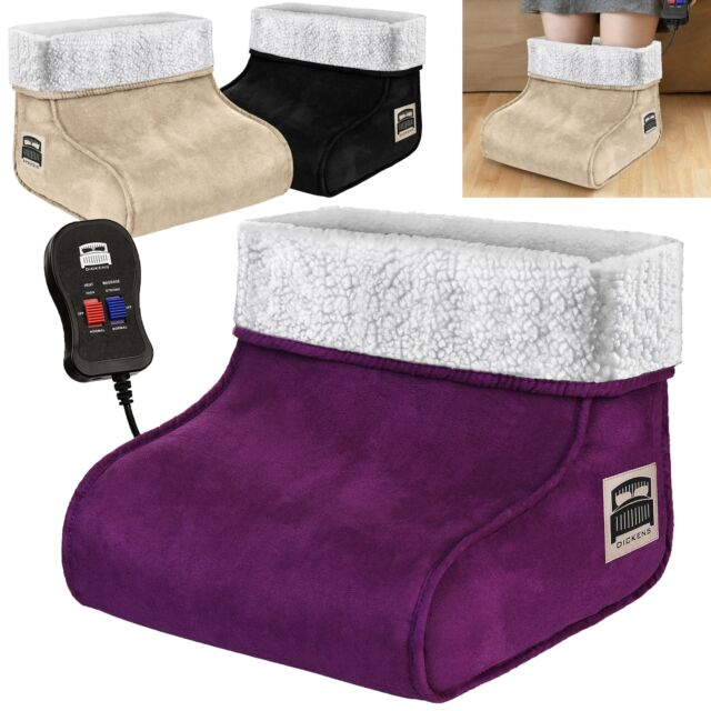 Awe Inspiring Electric Heated Foot Warmer Feet Massager Comfort Fleece Suede Relaxing Gmtry Best Dining Table And Chair Ideas Images Gmtryco