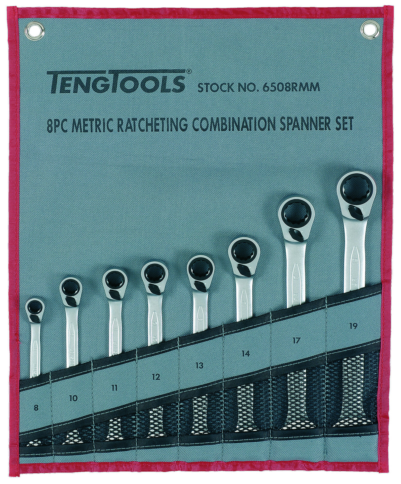 Teng Tools 6508RMM - 8 Piece Ratchet Spanner Set 8 - 19mm