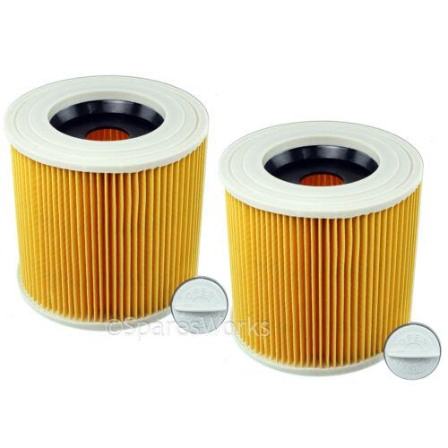 2 x Wet /& Dry Filtre Pour Karcher WD3250 WD3300 WD3310 WD3320 Aspirateur