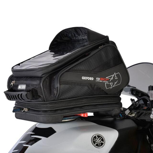 Oxford OL270 Q30R Motocicleta Cierre Rápido Tank Bag Ligero 30L Negro
