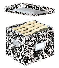 Document Storage Box Office File Organizer Filing Cabinet Letter Size Folders