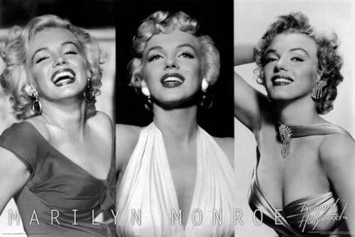 MARILYN MONROE POSTER 3 Pictures RARE HOT NEW 24x36
