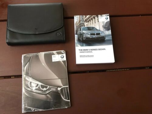 2015 Bmw 5 Series Sedan Owners Manual With Case OEM Free Shipping