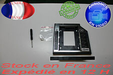 Caddy boîtier Aluminium SATA 3.0 SSD 9.5mm 2nd HDD pour pc portable