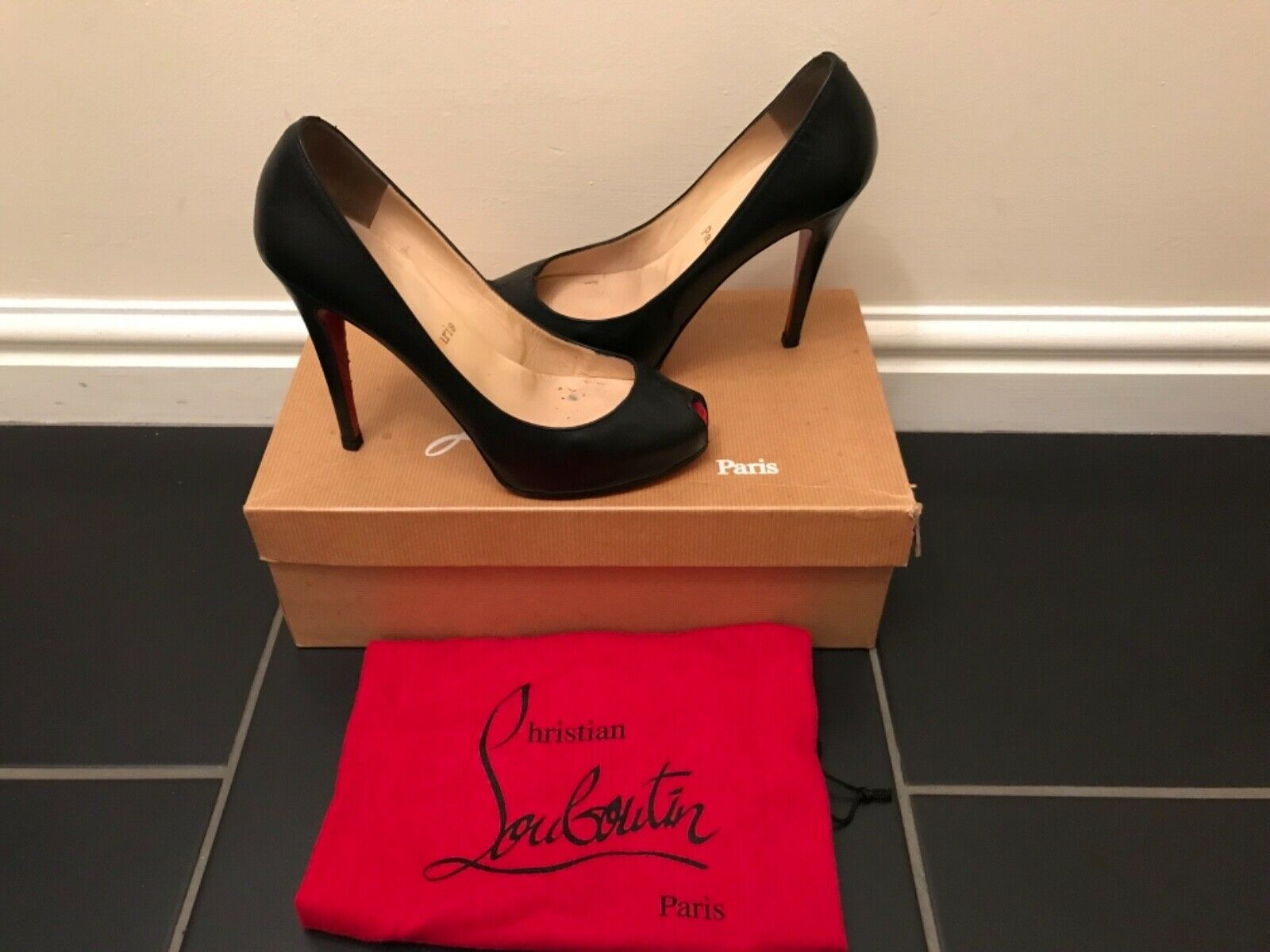 best sneakers f838b 4b55f AUTHENTIC CHRISTIAN CHRISTIAN CHRISTIAN LOUBOUTIN MINIBOUT ...
