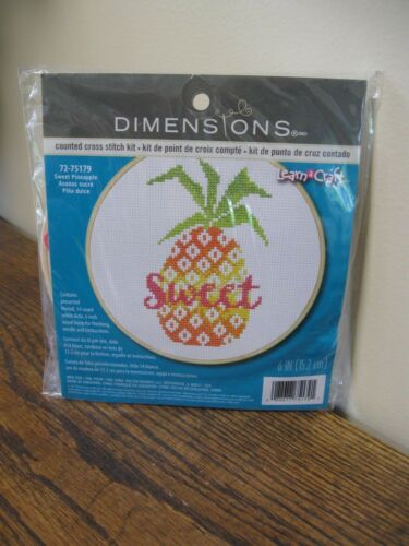 Dimensions Sweet Pineapple Counted Cross Stitch Kit New
