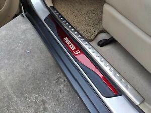 For Mazda 3 Accessories Car Door Sill Cover Scuff Plate Protectors Sticker 4pcs