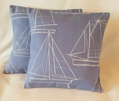 "16/"" 18/"" 12/""x18/"" 12/""x20/"" New Oblong Blue Cushion Cover Handmade John Lewis Fabric"
