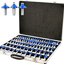"80pc 1/4"" Shank Tungsten Carbide Router Bit Set 3 Blade Tools Aluminum Case"
