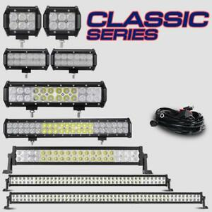 4-7-12-20-22-42-50Inch-CREE-LED-Light-Bar-Pods-Cube-Flood-Spot-Offroad-Truck-4WD