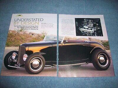 """2019 Mode 1932 Ford Roadster Highboy Hot Rod Artikel """" Understated Von Design Cabrio"""
