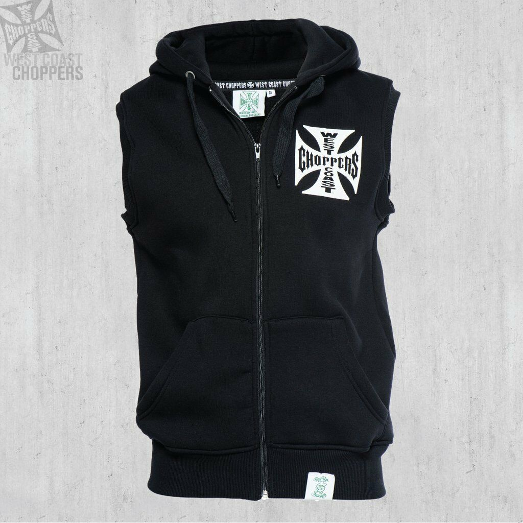 WEST COAST CHOPPERS ORIGINAL CROSS SLEEVELESS ZIP HOODY BRAND NEW    | München