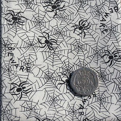 Halloween Spiders Web Pattern Patchwork Fabric 100% cotton