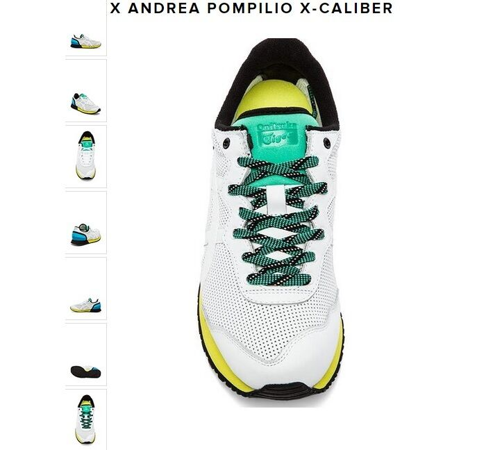 NEW Asics ONITSUKA TIGER X CALIBER ANDREA POMPILIO D4HOL 9999 WHITE NIB sold out