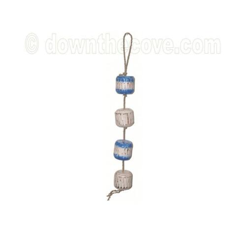 Hanging nautique mobile avec grande Blue /& White Flotteurs-Coastal Décoration