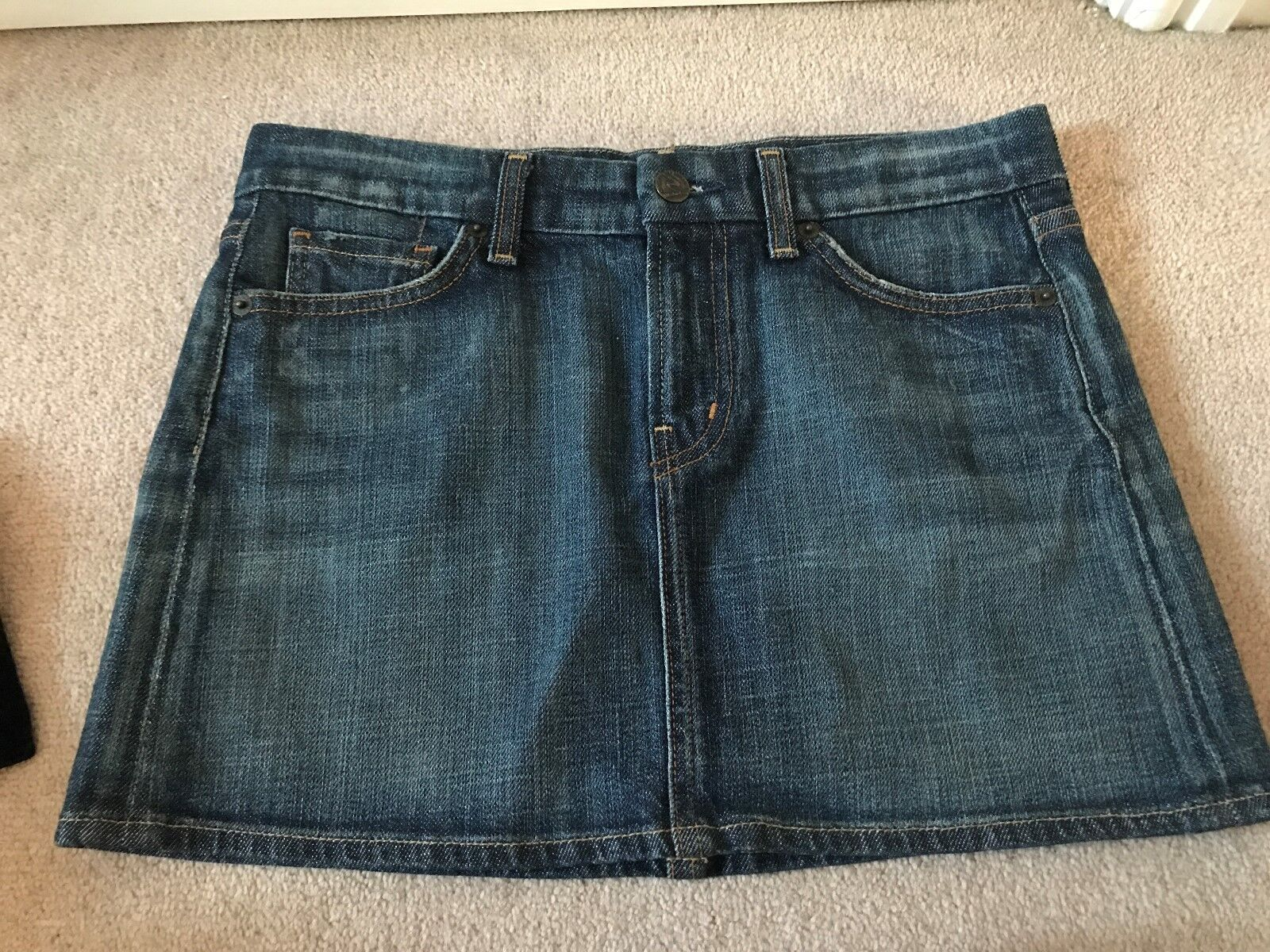 NEW 100% GENUINE CITIZENS OF HUMANITY MID blueE DENIM MINI SKIRT WAIST 27