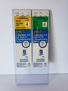 1985 ALCS Ticket Stubs Toronto Blue Jays Vs Kansas City Royals Game 4