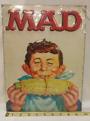 MAD Metal Decor Sign Comic Book 13 x 9 inch Open Road Brands New in Plastic