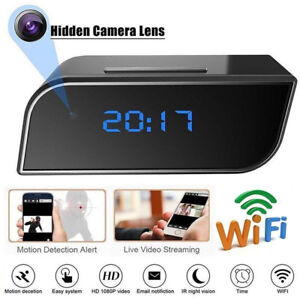 HD-1080P-Wireless-Wifi-IP-Spy-Hidden-Camera-IR-Cam-Motion-Security-Alarm-Cloc-E