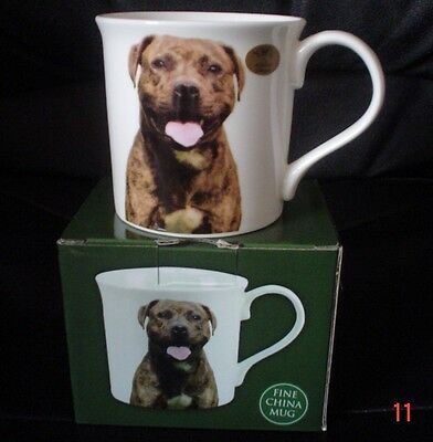 The Leonardo Collection Fine China Mug BRINDLE STAFFIE BNIB