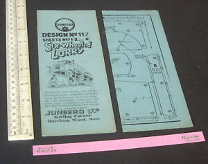 1940s Juneero UK Constructional Plans 6-Wheeled Lorry (Foden-type) in Steel