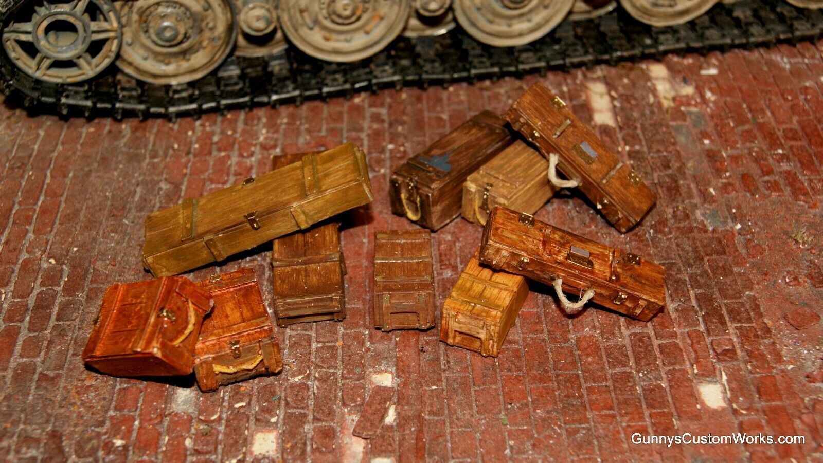 10 pc 1 16 Scale Hand painted WW II Stowage Wooden Crates
