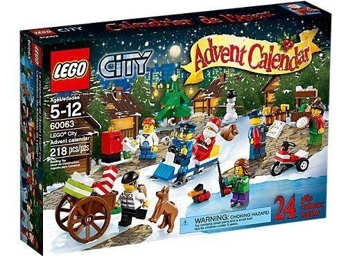 Lego City Town 60063 ADVENT CALENDAR 2014 Santa Ice Skater XMAS Gift Present NEW