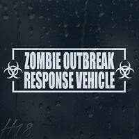 Zombie Outbreak Response Vehicle Car Decal Vinyl Sticker Fow Window Panel Bumper