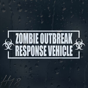 Zombie-Outbreak-Response-Vehicle-Car-Decal-Vinyl-Sticker-Fow-Window-Panel-Bumper