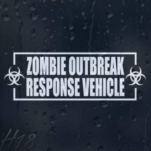 Zombie Outbreak Response Véhicule Autocollant Vinyle Autocollant Voiture Fenêtre FOW panneau pare-chocs