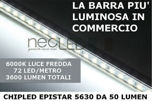 Barra LED 5630 1m luce FREDDA kit completo sotto pensile LA+LUMINOSA ...
