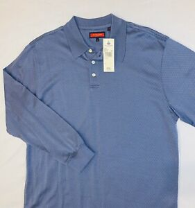 Nwt Austin Reed London Long Sleeve Shirt Three Buttons M Blue Purple Cotton Ebay