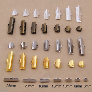 Wholesale-100Pcs-DIY-Clamps-Necklace-Clip-Ribbon-Ends-Over-Crimp-Cord-Caps-Tips