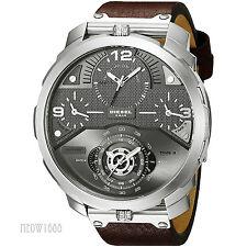 Brand New Diesel Men Oversize 56mm Machinus 4 Time Zone Day Date Watch DZ7360