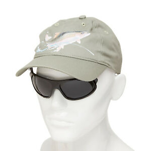 Details about iShades Baseball Cap w Integrated Polarized Flip-Up/Down  Sunglasses Trout Green