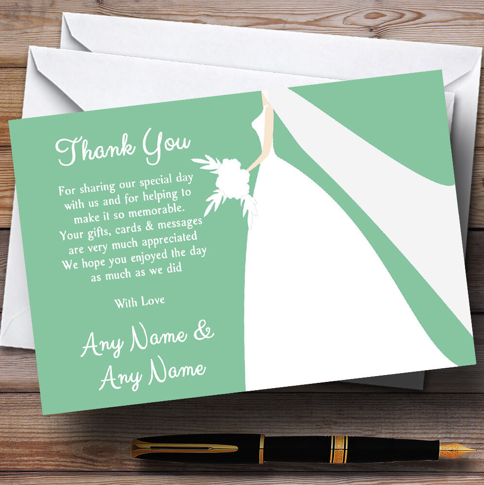 Grün Bride Personalised Wedding Thank You Cards